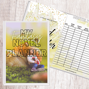 Light Fanatsy Book Planner Workbook + Worksheets | NaNoWriMo Worksheets | Novel Planner | Writing Planner | Printable Worksheets | Author Planner
