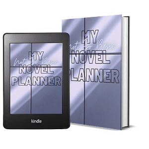 Basic Book Planner Printable Workbook  | NaNoWriMo Worksheets | Novel Planner | Writing Planner | Printable Workbook | Author Planner