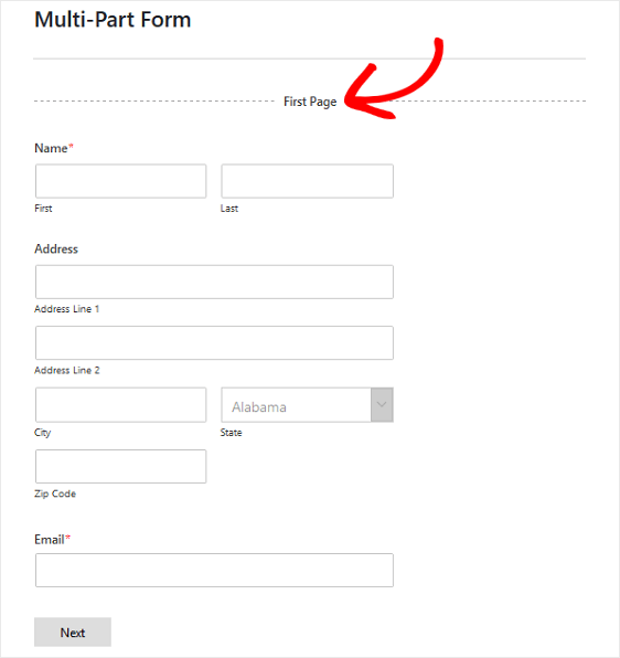 multipage forms in wordpress