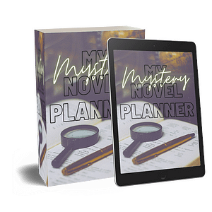 Mystery Book Planner Printable Workbook | NaNoWriMo Worksheets