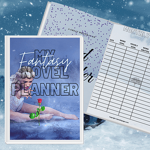 Dark Fantasy Book Planner Printable | NaNoWriMo Worksheets | Novel Planner | Writing Planner | Printable Workbook | Author Planner