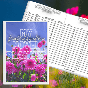 NaNoWriMo Book Planner Printable Workbook  | NaNoWriMo Worksheets | Novel Planner | Writing Planner | Printable Workbook | Author Planner