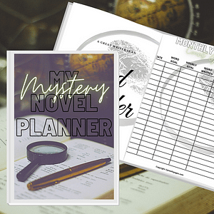 Mystery Book Planner Printable  Workbook | NaNoWriMo Worksheets | Novel Planner | Writing Planner | Printable Workbook | Author Planner