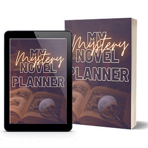Murder Mystery Book Planner Printable | NaNoWriMo Worksheets | Novel Planner | Writing Planner | Printable Workbook | Author Planner