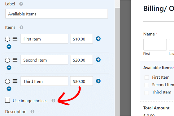 order forms in wordpress